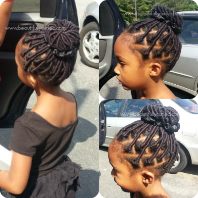 African Threading Hairstyles For Kids Using Brazilian Wool