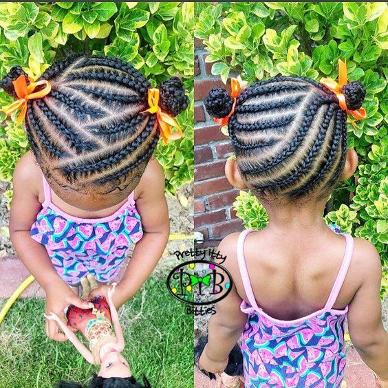 Easy & Cute Cornrow Hairstyles For School | African hairstyles
