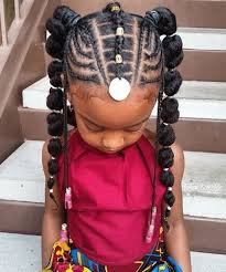 Braided Ponytail Hairstyles For Black Hair Little Girl