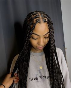 Easy Individual Braids With Human Hair Curls Color
